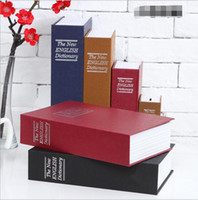 Big / Medium / Small Size Dizionario di simulazione Book Safe Cash Money Jewelry Casa Secret Locker Storage Box Custodia con serratura a chiave 4 colori