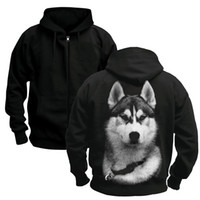 Pet animal Siberian Husky DOGS wolf Sleeve Hipster Men' s...