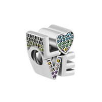 Adatto a Charms Pandora Bracciali 2018 Summer Multi-Color Love Charm beads Original 925 Sterling Silver Charm Gioielli fai da te per le donne Making