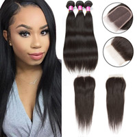 Cosy Silk Straight Hair Weaves Closure 3 Bundles and Closure...