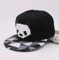 صيف جديد الكرتون الباندا للتعديل قبعات البيسبول snapback القبعات للشباب الرجال النساء أزياء الحيوان قبعة الهيب هوب قبعة الشمس العظام