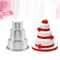 케이크 도구 초콜릿 케이크 메이커 금형 DIY 미니 3 계층 컵케익 푸딩 베이킹 팬 금형 파티 음식 아이 생일