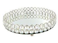 Perle di cristallo specchio Bling Bling Perle in cristallo trasparente rotondo in argento