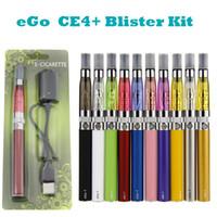 Ego starter kit CE4 + plus atomizador e cig kit 650 mah 900 mah 1100 mah EGO-T blister bateria caso Clearomizer E-cigarros