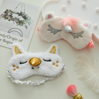 EMS Unicorn Eyes Mask Plush Animals Traveling Sleeping Eye M...