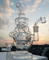 Vortex Glass Bong Recycler Oil Rig wax water pipe heady Klei...