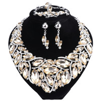 2018 New Fashion Strass Crystal Statement Collana Set di gioielli da sposa Decorazione Collane Gioielli Regali per le donne
