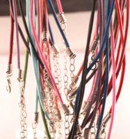 Оптовая в наличии карабинчиком смешанного цвета кожаный веревка Ожерелье для diy ювелирных изделий выводы аксессуар