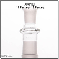 Standard female glass adapter converter attach different siz...