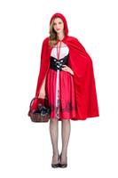Das kleine Rotkäppchen-Kleid, das Cosplay aufgewachsen ist, gilt für Party-Night-Club-Queen-Kostüme