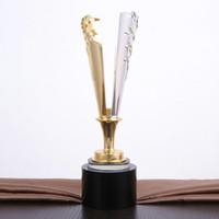 2018 جودة عالية جديد الراتنج الجوائز عالية الجودة كريستال كأس جائزة الكأس نموذج الإبداعية المعادن ولي الكأس ، شحن مجاني!