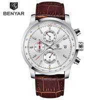 Benyar الأزياء كرونوغراف رياضة رجل الساعات الأعلى فاخرة كوارتز ساعة reloj هومبر 2017 ساعة الذكور ساعة relogio masculino