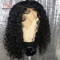 Honrin Hair 360 Lace Wig Deep Curly Pre Plucked Hairline Mal...