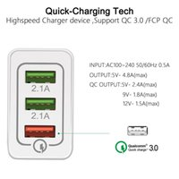 QC 3.0 Qualcomm Schnell Wall Charger für iPhone Samsung Huawei XIAOMI Mobiltelefon Highspeed 3 USB-Anschluss Tragbare Certified Fast Charger