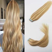 10a bande de qualité dans les extensions de cheveux p16 / 22 remy brésilien bande droite dans les extensions de cheveux humains pour les femmes 40Pcs 100G