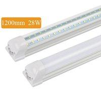 V-förmige T8 4FT 5FT 28W / 36W Kühlertür-LED-Röhre integrierte Röhrchen Doppel-Seiten SMD2835 Leuchtstofflampen 85-265VAC-freie UPS FedEx
