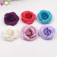 10pcs lot 5cm Hand Craft Flowers Supplies Silk Rose Heads DI...