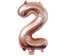 с Retial Packag 32 дюймов розовое золото цифра фольги воздушные шары номер воздушный шар надувные игрушки Свадьба День Рождения украшения событие праздничные атрибуты