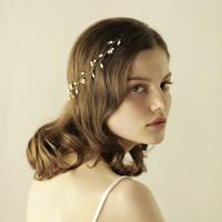 New Headbands De Noiva Simples Com Pérolas Marquise Strass Mulheres Jóias Acessórios Para o Cabelo de Casamento BW-HP814