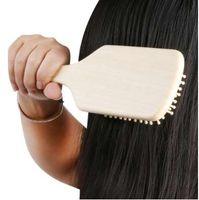 1 Pcs Massagem De Madeira Pente De Bambu Escova de Ventilação Escovas de Cabelo Cuidados Com Os Cabelos e Beleza SPA Massageador de Alta Qualidade Por Atacado