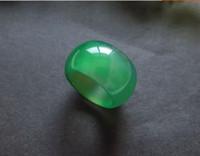 Vente chaude jade cristal bague de mariage anneaux ue jolis bijoux rouge jade anneaux agate bague en gros anneau de doigt D3