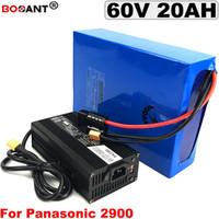 Für Panasonic 18650 Zellen E-Bike-Akku 60V 20Ah mit 5A Ladegerät 60V elektrischen Fahrrad-Lithium-Ionen-Akku mit 1500 W-freiem Verschiffen