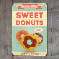 Sweet Donutd Best in Town Retro Metal Sign Vintage Craft Tin...