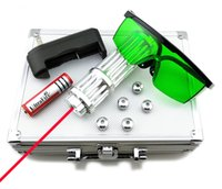 SDLasers RX3-0200 Puntatore laser rosso 650Nm con messa a fuoco regolabile 1 * 18650 Li Battery 5 * Star CapCharger Occhiali e scatola in alluminio