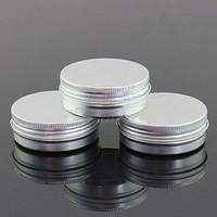 EMS 500pcs / серия Емкость 60g (38 * 25 мм) высококачественные алюминиевые косметические контейнеры с винтовой резьбой