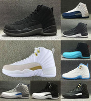 En gros 12 Laine Basketball Chaussures Deep Loyal Blue 12S Noir Blanc Gym Rouge Grippe Jeu Chaussures US5.5-13