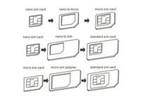 Nano Micro Standard Sim Karte Adapter Kit Konverter Mit Sander Bar Tray Öffnen Nadel 1000 teile / los