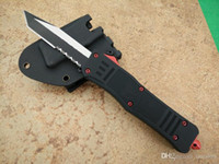 A161 red devil demon double action hunting Folding Knife Xma...