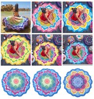 Colorful Polyester Round BeachTowel Indian ThrowTowel Summer...