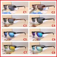 756 العلامة التجارية مصمم النظارات الشمسية عالية الجودة المعدنية المفصلي نظارات شمسية رجالية نظارات المرأة نظارات شمسية عدسة UV400 للجنسين