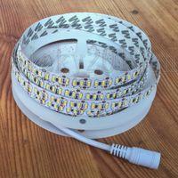 5 M 3014 LED Esnek Şerit Işık Bant Halat Şerit 1020 LEDS Su Geçirmez 12 V 204LEDS / M Kabine Mutfak Için DC Bağlayıcı ile