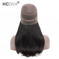 HCDIVA Hair Product 360 Wig Lace Frontal Human Hair Wigs Pre...