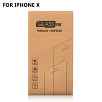 10 шт. для iPhone X закаленное стекло защитная пленка с пользовательской крафт-бумаги упаковочная коробка для 9 H твердость закаленное стекло