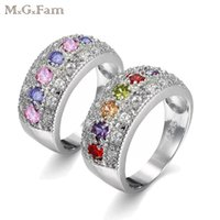 MGFam (194R) Mulitcolor Rings For Women New 2018 Spring Euro...