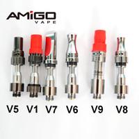 Amigo Liberty V9 Vaper Vapor Vaporizer 오일 벤트 펜 Vapor V1 V5 V6 V7 V8 Itsuwa 510 유리 탱크 세라믹 코일 분무기 100 % Original DHL