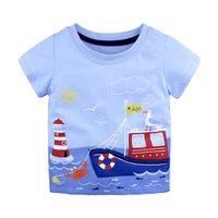 Лето 2018 Детская футболка с коротким рукавом Мальчик мультфильм футболка 8 Стиль Детская футболка Baby Cute Повседневный топ