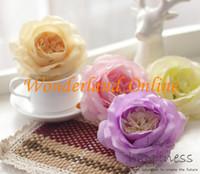 20 colori! Fiori artificiali europei europei della rosa delle teste di fiore della parete dell'arco di nozze di nozze dei fiori fatti a mano gli accessori per nozze decorative
