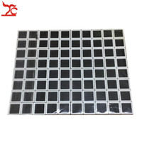 80Pcs Plástico Cuadrado Loose Diamond Display Package Box White Gem Case Black Memory Foam Pad Beads Colgante Caja Showcase 3 * 3 * 2cm