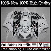 Iniezione 100% per HONDA CBR 1000RR CBR1000 RR 04 05 Kit 51PG11 CBR1000RR 04 05 Bianco nero CBR 1000 RR 2004 2005 Carenatura OEM