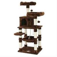 Envío gratis Cat Tree Condo Multi-Level Kitty Play House Sisal Scratching Posts Tower Brown UPCT15Z Muebles y herramientas de escalada