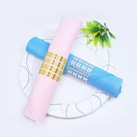 Plastic Napkin Rings Hotel Wedding  Chair Sash Diamond Mesh ...