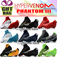 Best Quality 2018 Leather Football Boots High Top Hypervenom...