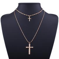 الكلاسيكية الجديدة ، والعناصر الدينية البسيطة ، قلادة قلادة الصليب ، والمجوهرات قلادة قصيرة ، مجموعة من قطعتين.