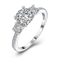 Anello d'argento lucido CZ Ring Women's Engagement Gift Twilight Princess Crown Anel bagues Anello da donna all'ingrosso