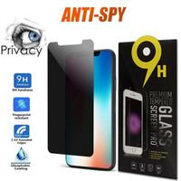 Anti Spy Gizlilik Cam iphone 12 11 Pro Max XR XS 7/8 Artı Ekran Koruyucu Gizlilik İPhone 8 Artı XS MAX 11 Pro için Temperli Cam