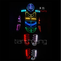 TC- 124 Full color LED colorful light robot costumes party dj...